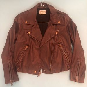 Current Elliot Soho Biker Jacket Brown